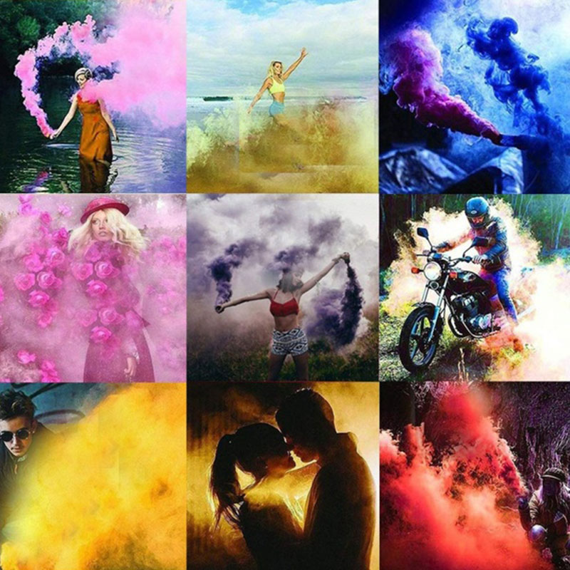 Colored Smoke Bombs Smoke Color Cake Effect Bomb Bombas De Humo Colores  Wedding Sis Bombasi for Party Kolorowy Dym Stage Props