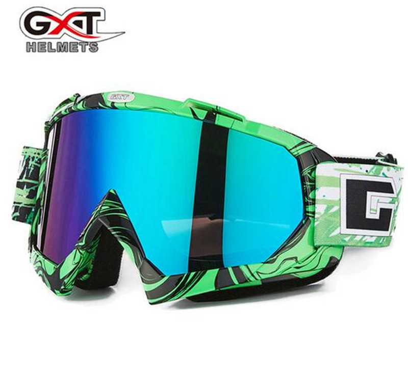 GXT Motorcycle Goggles Clear Glasses Riding Paintball Eyewear Ski Snow Glasses Motocross Off-Road Dirt Bike Goggles
