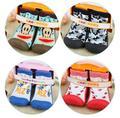 Novedad Animal Antideslizante Rodilla Calcetines Recién Nacidos Del Bebé Zapatos Conjunto Con Suela De Goma Calcetines de Navidad Los Niños Gils Niños