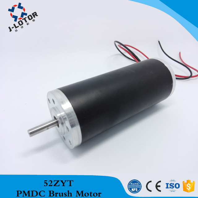 52zyt01a 60w 1 4a 4 8a 3700 4000rpm 12v 24v 48v Dc Motor Low Noise Permanent Magnet Brush Electric With 100mnm