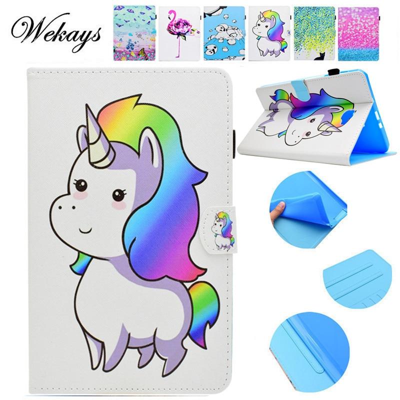 Wekays sFor Samsung Tab A6 10.1 Cartoon Unicorn Case For Samsung Galaxy Tab A6 A 6 2016 10.1 T585 T580 T580N Tablet Cover Cases все цены
