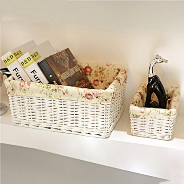 Home Garden woven rattan basket storage box decorative wicker baskets Small large wicker laundry basket wicker toy Books basket & Online Shop Home Garden woven rattan basket storage box decorative ...