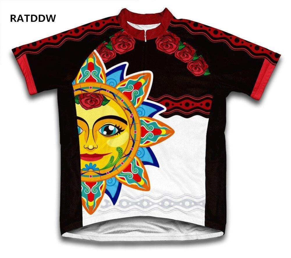 Mexican Sun Bicycle Wear Mountain Bike Cycling <font><b>Jersey</b></font> For Men <font><b>Women</b></font> Bicicleta Sports Clothing Ropa Ciclismo Maillot