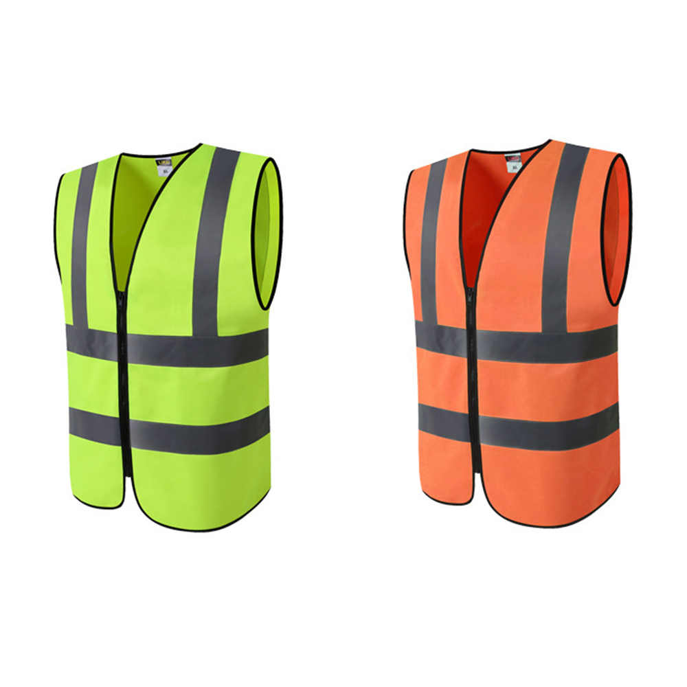 Reflective Vest High Visibility Fluorescent Outdoor Safety Clothing waistcoat reflective safety Vest Ventilate Vest Work Vest