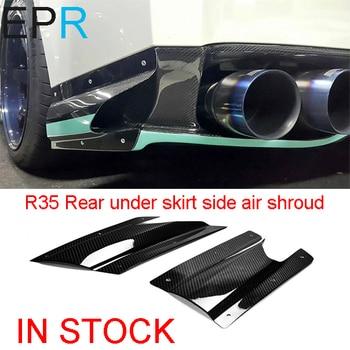 GTR R35 2013 VAR Phong Cách Carbon Sợi Phía Sau dưới váy side air tấm vải liệm Cho Nissan Bóng Sợi Phụ Kiện Cửa