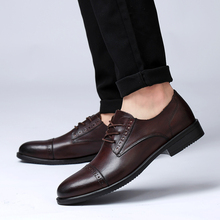 Rommedal mens formal shoes genuine cow leather high quality point-toe business office wed dress leisure man wholesale