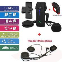 Free Shipping!Brand FDC COLO-RC Motorbike Bluetooth Intercom+Headset Microphone+Clip Bracket