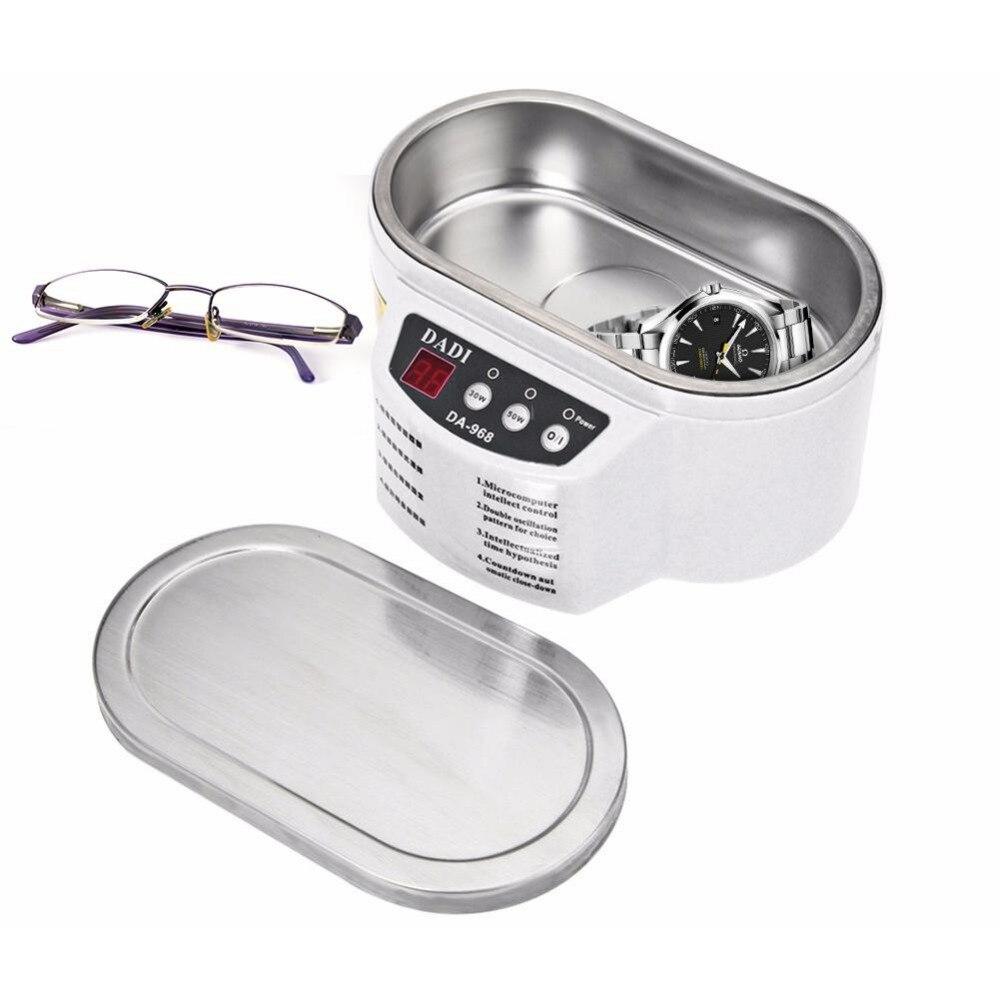 Adoolla inteligente limpiador ultrasónico de acero inoxidable ultrasonido de la onda de lavado para joyería gafas baño de ultrasonidos máquina