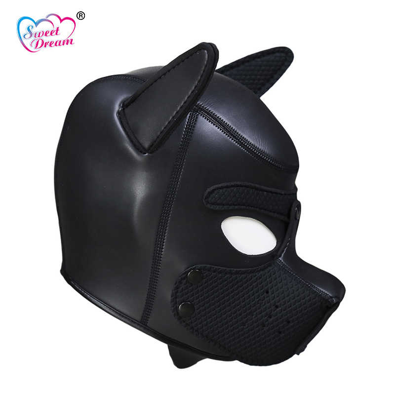 Сладкая мечта для взрослых игра собака головные уборы Связывание Openable БДСМ маска косплей ролевые игры вытяжки секс-игрушки для пары секс-товары DW-442
