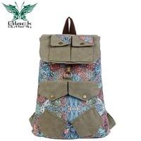 Black Butterfly Handbag 2015 New Wind Bag Fashion Backpack Backpack College Korean Canvas Women Boomers