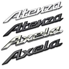 1piece 3D Metal Car Emblem Auto Decoration For Mazda 3 6 Atenza Axela Logo Modified Body Sticker Badge Automobile Decal
