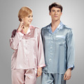 YIER Brands 100% Silk Men Sleepwear Mens Pajamas Sleep Lounge Male Pajama Sets Men Pyjamas Men Nightgown Chinese Silk Pajamas