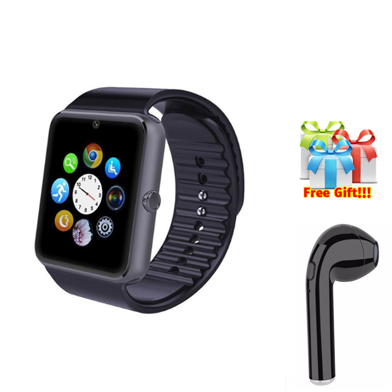 Smartwatch+earphone/set Bluetooth Smartwatch phone with camera Support SIM TF Passometer S