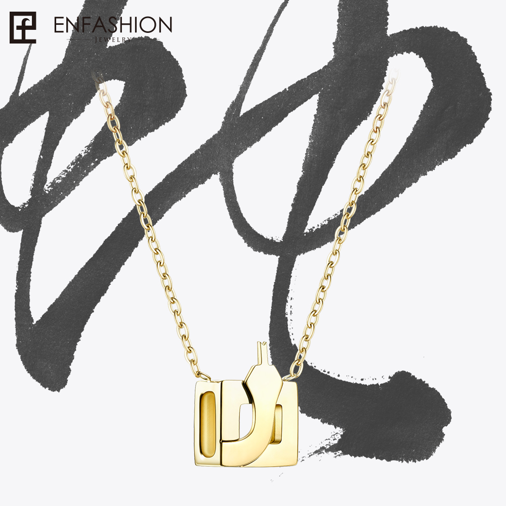 Enfashion Chinese Zodiac Snake Necklace Collier Femme Custom Necklaces Stainless Steel Chain Jewelry Sieraden PFY183004-SNAKE купить в Москве 2019