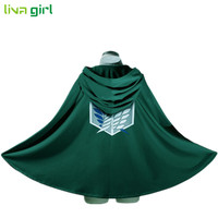 Novelty Anime Shingeki No Kyojin Cloak Cape Clothes Unisex Coser Cloak Cartoon Costumes Cosplay Attack On