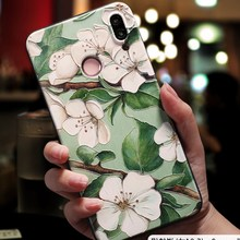 3D Print Emboss Flower Phone Case For iPhone XS Max 6 6S 7 8 Plus X 5 5S 10 XR Soft TPU Capa For Xiaomi Mi A2 Lite A1 5X 6X Case