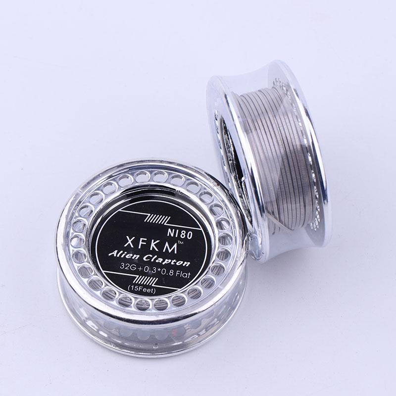 XFKM 5m/roll NI80 Alien Clapton Wire For RDA RBA Rebuildable Atomizer Heating Wires Coil Tool Alien Clapton Heating Wire