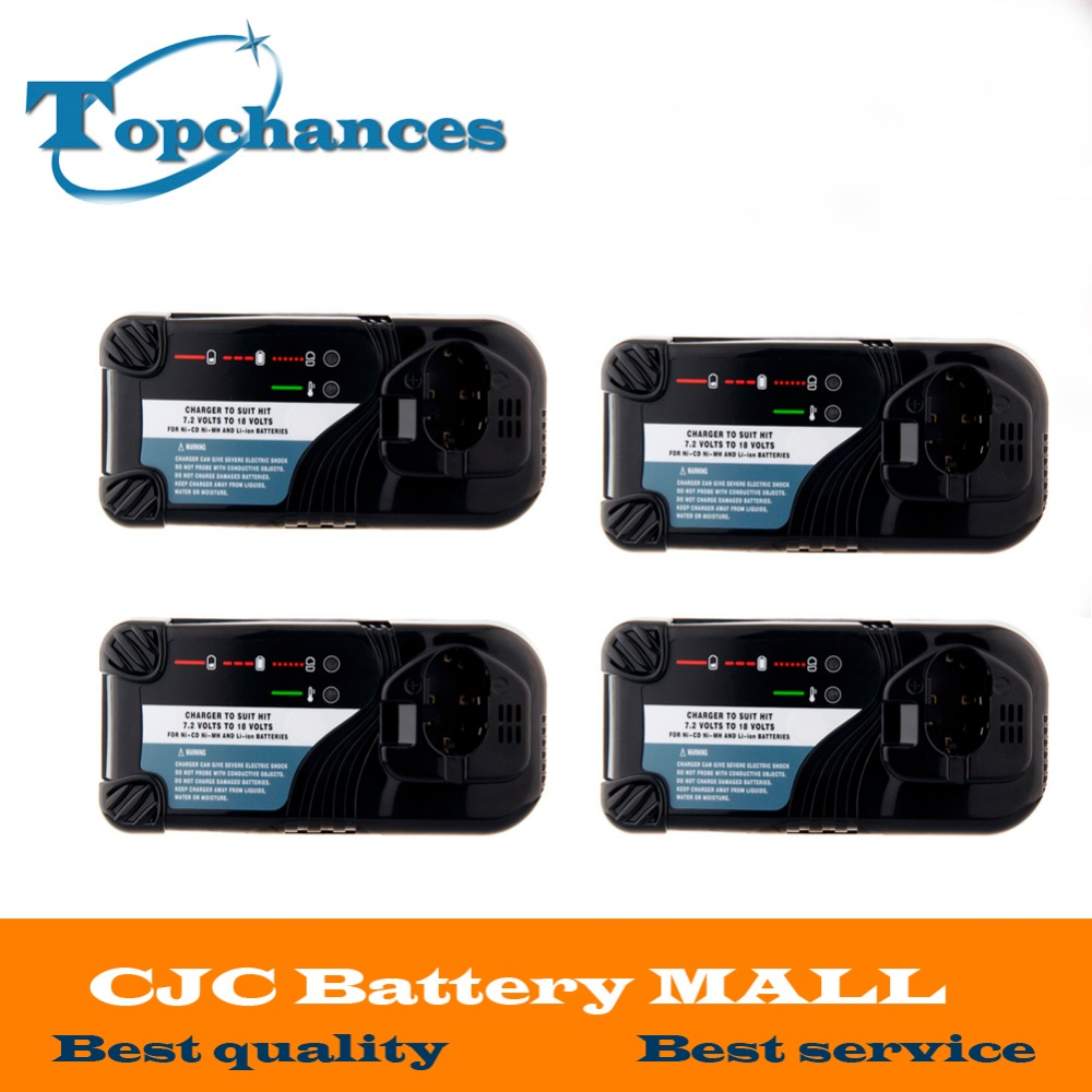4X High Quality Universal Cordless Drill Battery Charger For Hitachi NI-CD NI-MH Li-lon 7.2V -18V Battery UC14YFA UC18YG UC18YRL bcl1415 14 4v ni cd ni mh battery for hitachi bcl1415 18v ni cd ni mh battery