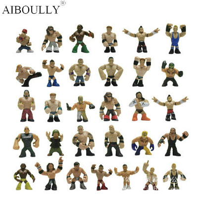 31pcs/lot Q version juguetes America occupation wrestling gladiators wrestler action figure toys Collection of wrestling hobby