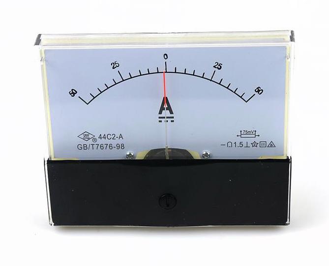 1Pcs 44C2-A Analog DC 0-10A Current Ampere Meter Panel Ammeter Gauge Class 1.5