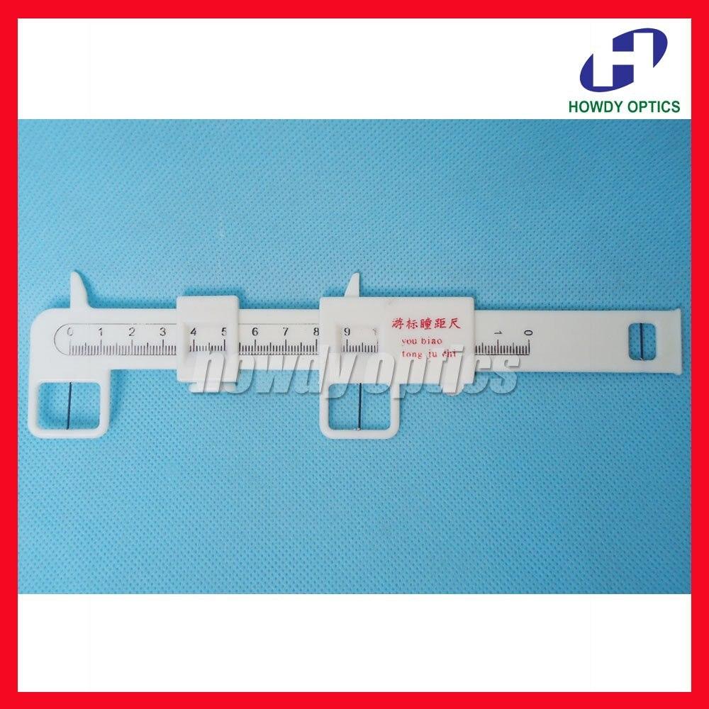 2 pz Plastica Vernier pd ruler pupilla distanza righello meter pupilometer Spedizione Gratuita