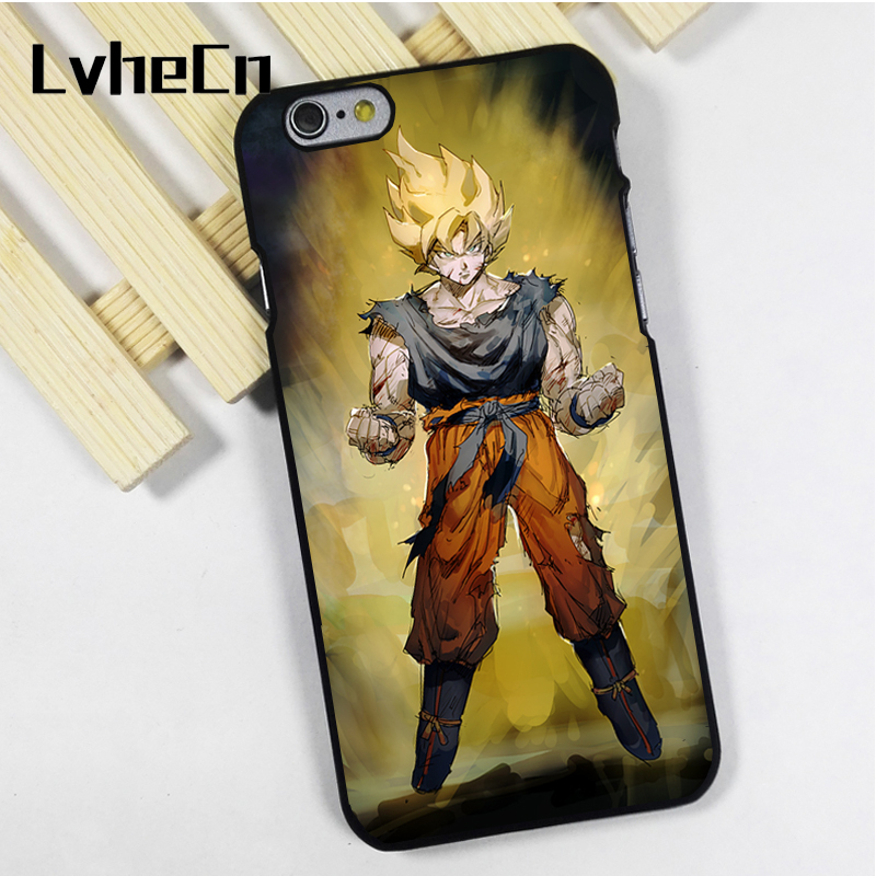 LvheCn phone case cover fit for iPhone 4 4s 5 5s 5c SE 6 6s 7 8 plus X ipod touch 4 5 6 DragonBall