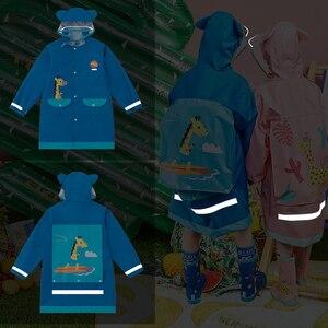 Image 5 - Kocotree Student Backpack Belt Raincoat Baby Children Cartoon Rainproof Rain Coat Girls And Boys Waterproof Poncho Rain Cover