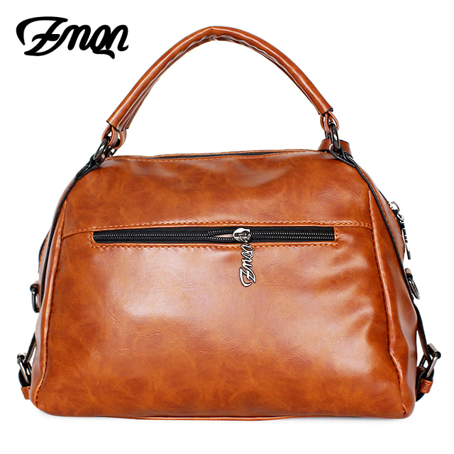 ZMQN Women Leather Handbag Brand Shoulder Bag Casual Tote Bag For Female Sac a Main Vintage Ladies Hand Bag Small Crossbody C603 1