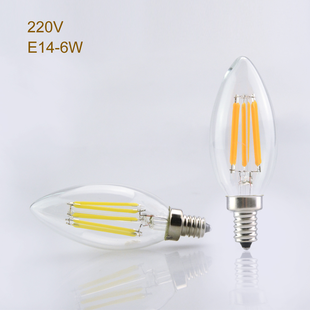 Foxanon e14 dimmable led light 220v 2w 4w 6w filament lamp candle foxanon e14 dimmable led light 220v 2w 4w 6w filament lamp candle bulb lampada led retro crystal chandeliers christmas lighting in led bulbs tubes from arubaitofo Image collections