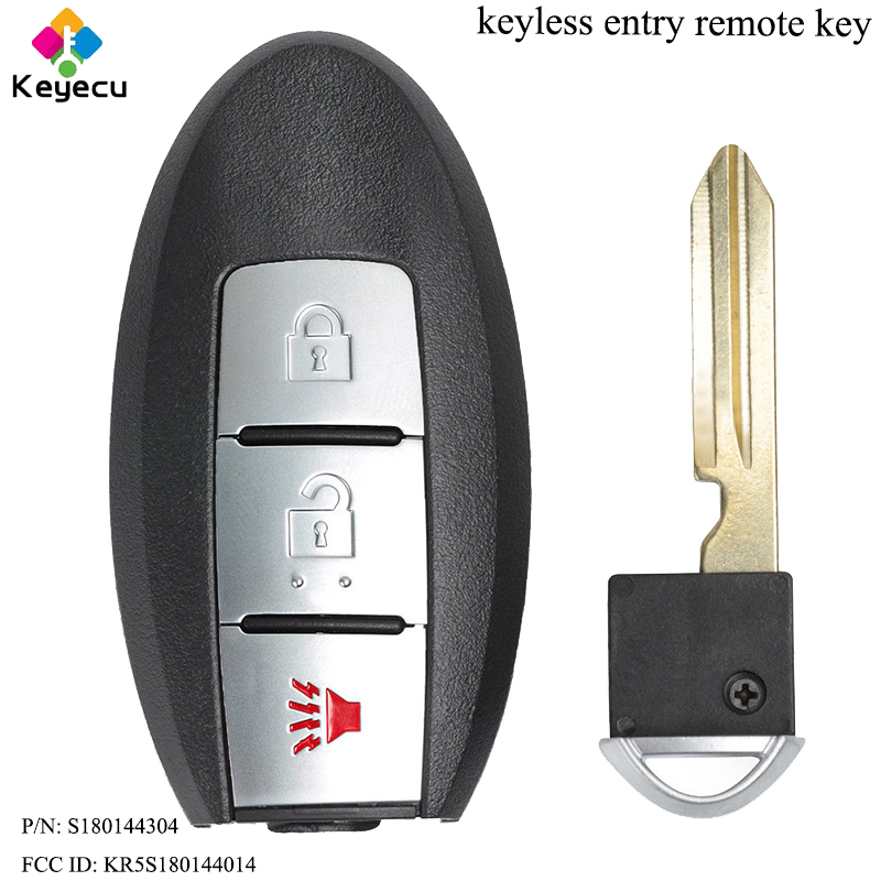 KEYECU Keyless Entry Remote Car Key - 3 Buttons& 433.92MHz& PCF7945 Chip - for Nissan Pathfinder Murano Titan XD P/N: S180144304 63a 3 p 3 p n rcbo rcd выключателя de47le delxi