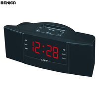 LED FM AM Radio Alarm Clock With Snooze Function Student Desktop Large Display Electronic Digital Nightlight