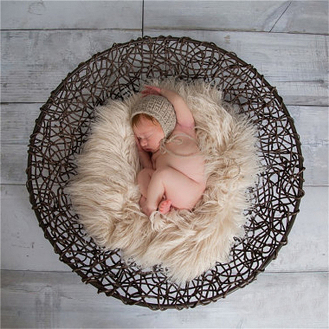 Faux fur photography props newborn photo prop faux flokati fur newborn photography background basket stuffer outfit