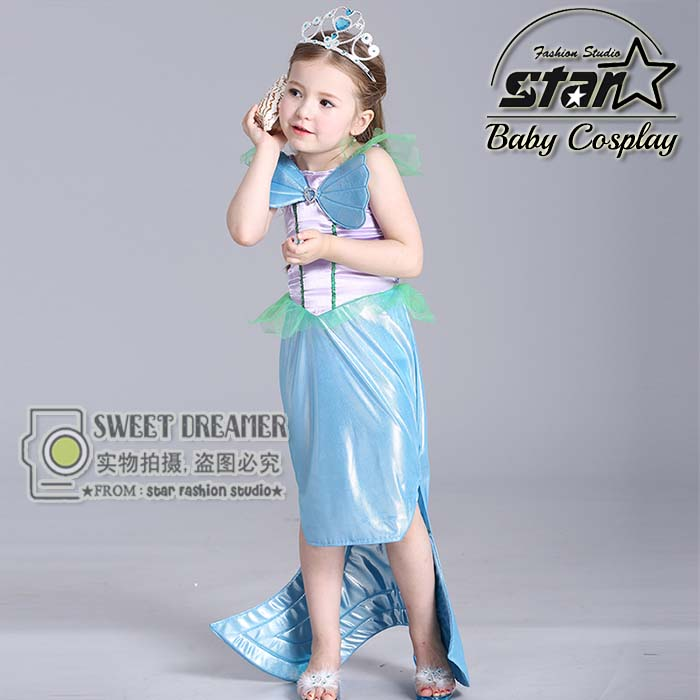 Baby Girls Clothes The Little Mermaid Ariel Kids Girls Dresses Princess Cosplay Halloween Costume Performance Stage Costume-in Dresses from Mother u0026 Kids on ...  sc 1 st  AliExpress.com & Baby Girls Clothes The Little Mermaid Ariel Kids Girls Dresses ...