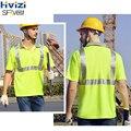 Hivizi рубашка Рабочая безопасная одежда рабочая одежда сухая рубашка с коротким рукавом отражающая рубашка безопасности Бесплатная доставк...