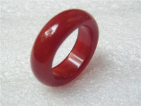10630 3pc New Hot Beautiful Natural perfect chalcedony RED agate jade ring