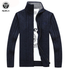 RUELK 2019 Sweater Men Autumn Winter Wool Thick Male Cardigan 2019 Fashion Brand Clothing Outwear Knitting Sweter Hombre M-3XL
