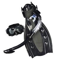 Vender LayaTone aletas de natación adulto corto Scuba snorkel zapatos de buceo máscara Set Trek pie Flipper aletas de buceo con Hee