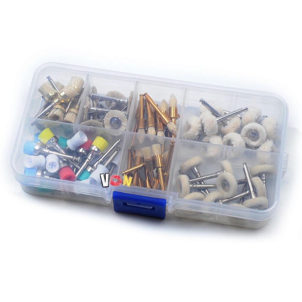 80pcs Dental Prophy Polishing Brushes Cup Latch Type Nylon Wheels Rotary Tools