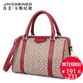 The new pattern is very beautiful 2016 Boston women's Handbag Bag Handbag oblique European simple canvas splicing lady bag