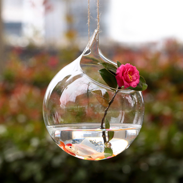 Wholesale Price Transparent Hanging Glass  Bell Star Plants Flower Vase Hydroponic Container Wedding Gift Home Decoration