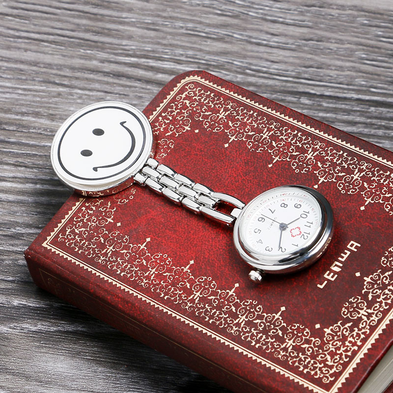 Fashion Stainless Steel Nurse Pocket Fob Watch, New Silver Medical Doctor Brooch Quartz Analog Pendant Watch