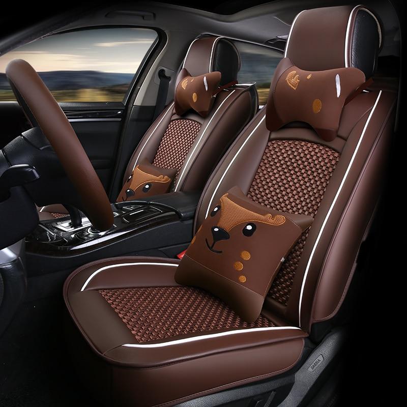 5seat front rear universal car seat covers for hyundai solaris ix35 i30 ix25 elantra accent. Black Bedroom Furniture Sets. Home Design Ideas