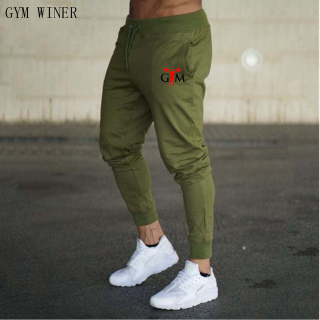 2019 GYMS New Men Joggers Brand Male Trousers Casual Pants Sweatpants Jogger grey Casual Elastic cotton Fitness Workout pan 5