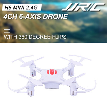 JJRC JJR/C H8 Mini 2.4G 4CH 6-axis Gyro Headless Mode Drone with 360 Degree Rollover CF Mode One Key Return RC Quadcopter White