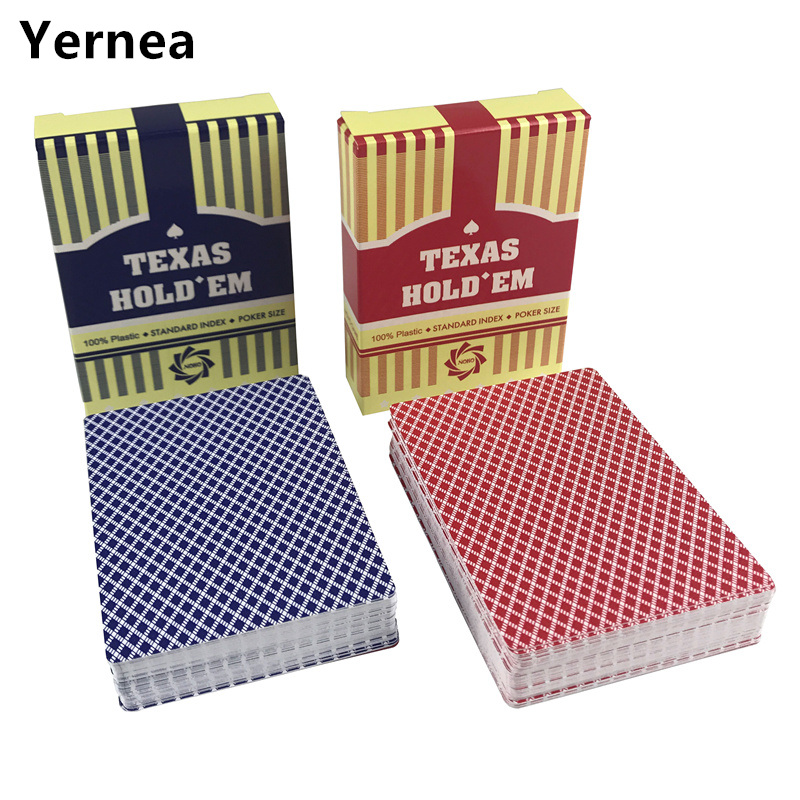 NEW HOT 10Sets/Lot Baccarat Texas Holdem Plastic Playing Cards Waterproof Frosting Poker Cards Plastic Board Games Yernea