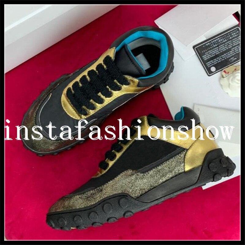women sneakers brand design women trainers sneaker Metallic fabric leather casual flat designer shoes woman tenies