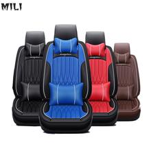 mili 2019 hots Special Leather car seat covers For Hyundai solaris ix35 i30 ix25 Elantra accent tucson Sonata auto accessories for hyundai solaris hatchback special seat covers full set model turin eco leather