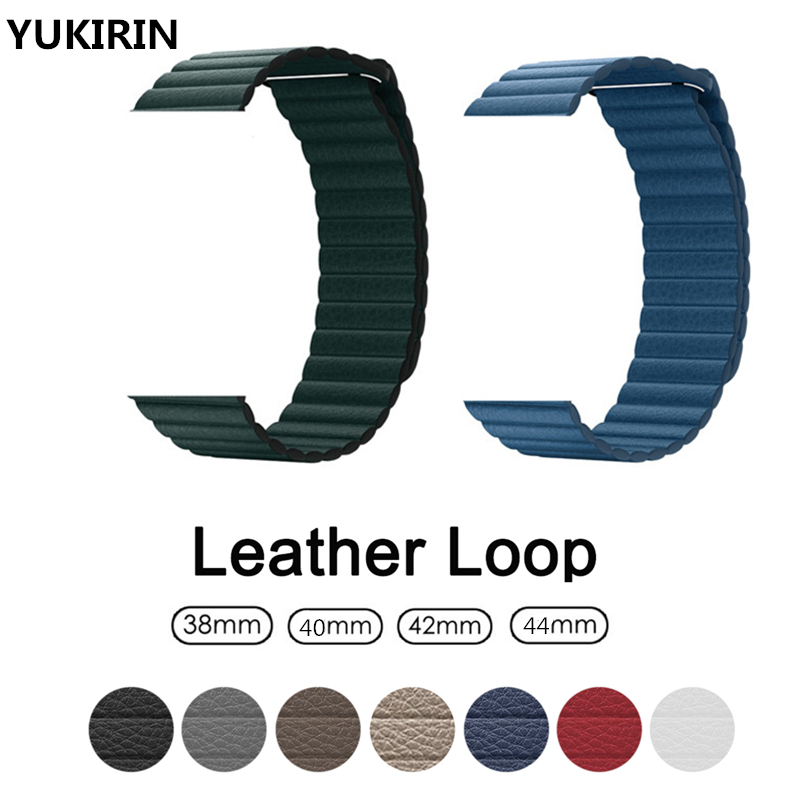 Genuine leather loop Strap for apple watch 38 42mm 40 44mm band for iwatch series 4 3 2 1 pulseira Wrist bracelet Belt watchband