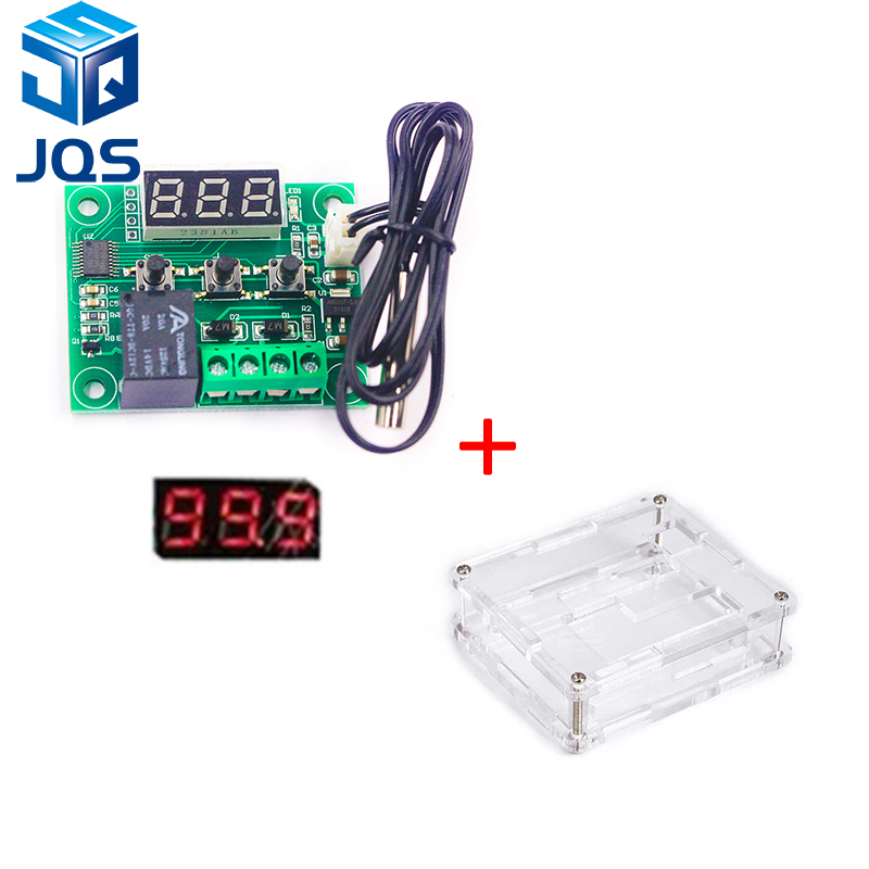 W1209 LED Digital Thermostat Temperature Control Thermometer Thermo Controller Switch Module DC 12V Waterproof NTC Sensor цена 2017