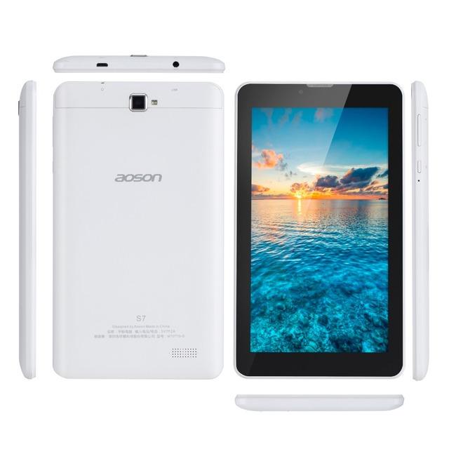 Hot 3g aoson phablet s7 7 polegada tablet pc android 5.1 quad núcleo 8 GB + 1 GB Dual Câmeras Telefonema Tablets PC GPS Bluetooth wi-fi OTG